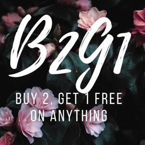 SALE! BUY 2 GET 1 FREE! No items excluded!